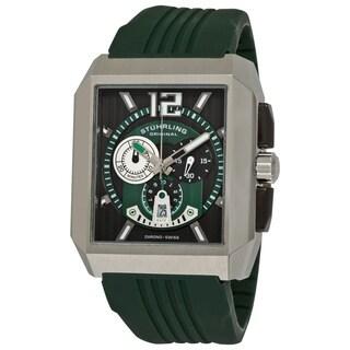 Stuhrling Original Men's Metropolis Swiss Quartz Chronograph Rubber Strap Watch