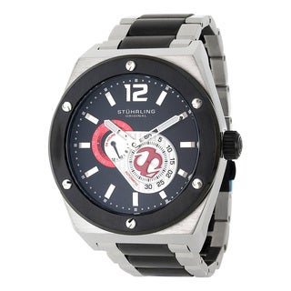 Stuhrling Original Men's Esprit D'Vie Automatic Stainless Steel Bracelet Watch - black