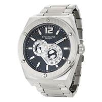 Stuhrling Original Men's Esprit D'Vie Automatic Stainless Steel Bracelet Watch - silver