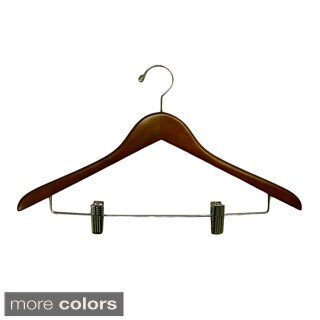 Gemini Concave Suit Hanger with Wire Clips