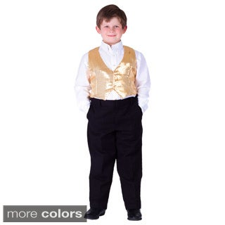 Boy's Sequin Vest (Option: Gold)