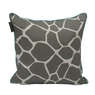 Giraffe Print 20-inch Reversible Decorative Pillow with Down Alternative Fill