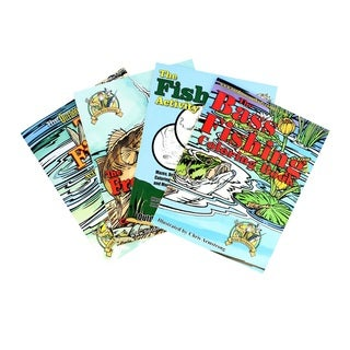 Top Brass Tackle Fishing Coloring Book Assortment 4 Books