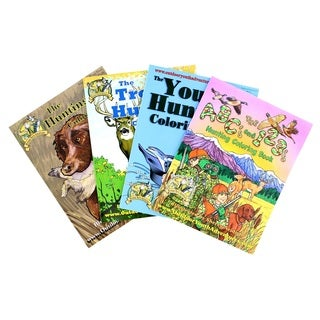 Top Brass Tackle Hunting Coloring Book Assortment 4 Books