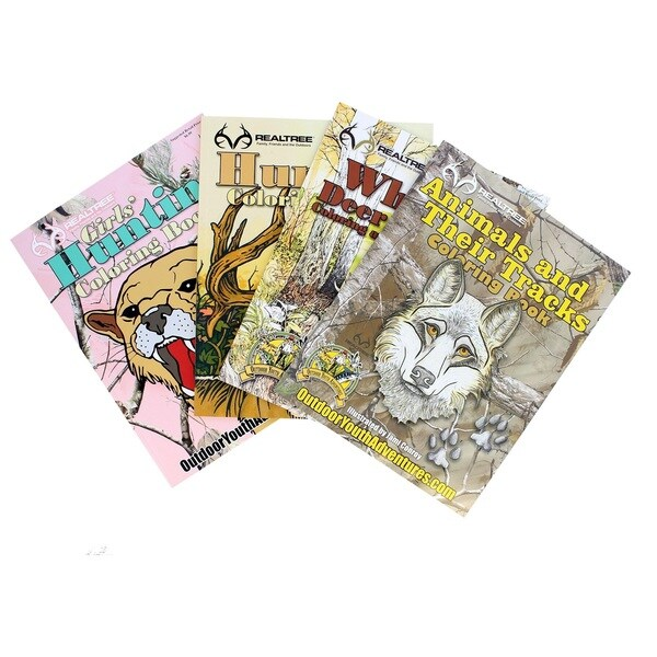 Top Brass Tackle Realtree Coloring Book Assortment 4 Books