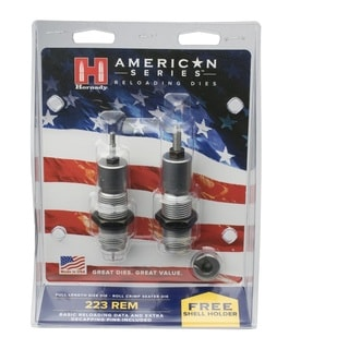 Hornady American Die Set 2 223 Rem (.224) Free Shell Holder