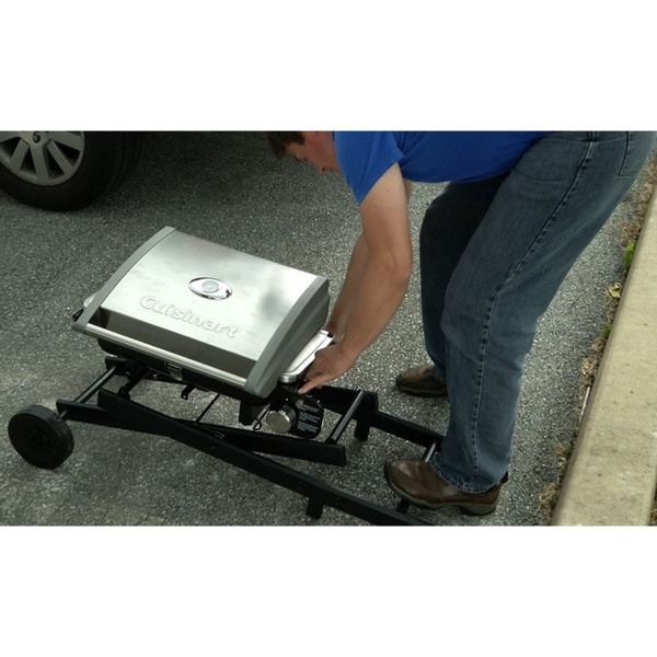 Cuisinart CGG 240 All Foods Roll Away Portable Gas Grill   Free Shipping  Today   Overstock.com   17307037