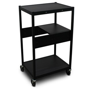 Marvel Vizion Media Cart with A Pull-Out Side-Shelf