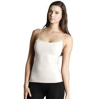 Nikibiki Women's Seamless Short Length Camisole Top (Option: IVORY (One Size))