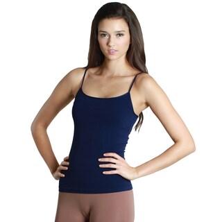 Nikibiki Women's Seamless Short Length Camisole Top (Option: NAVY (One Size))