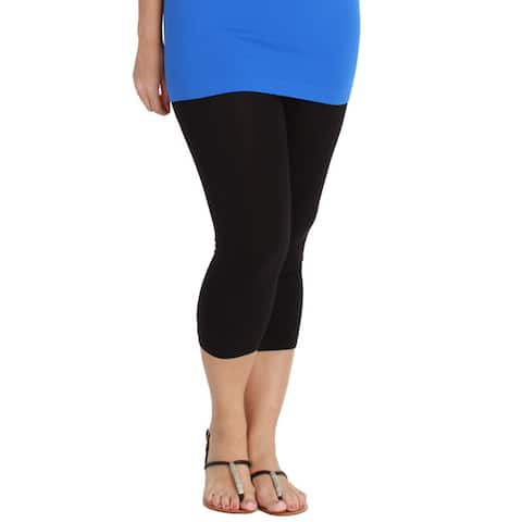 912cc816330 Nikibiki Women s Plus-size Seamless Capri Leggings