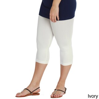 Nikibiki Women's Plus-size Seamless Capri Leggings