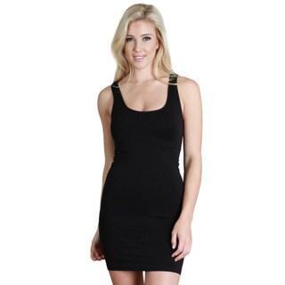 Nikibiki Women's Seamless Plain Jersey Tank Dress