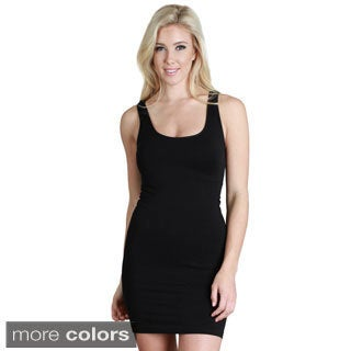 Nikibiki Women's Seamless Plain Jersey Tank Dress