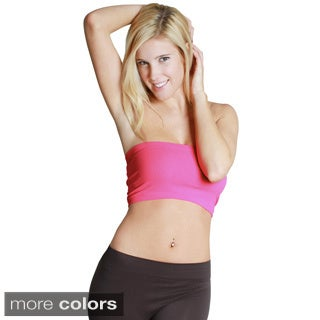 Nikibiki Women's Seamless Pink/ Yellow Bandeau Top