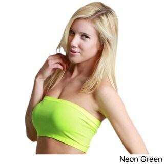 Nikibiki Women's Seamless Neon Bandeau Top (Option: NEON GREEN (One Size))