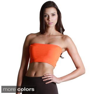 Nikibiki Women's Seamless Peach/ Orange Bandeau Top