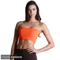 Nikibiki Women's Seamless Peach/ Orange Bandeau Top
