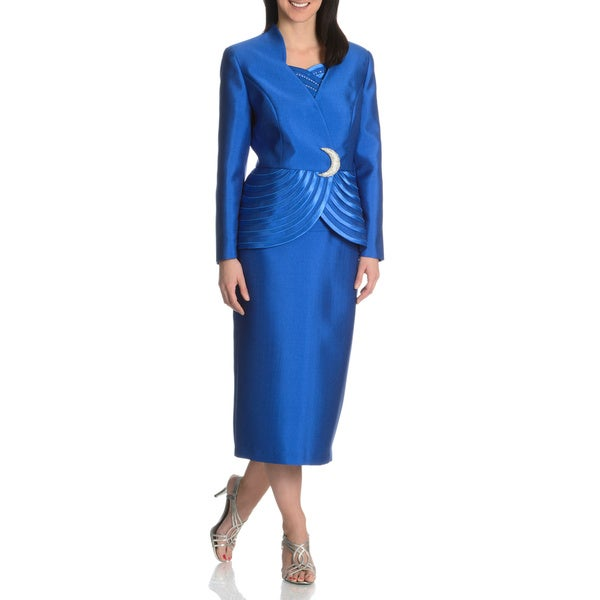 e9b1593a5 Shop Giovanna Collection Women's 3-piece Skirt Suit - Ships To ...