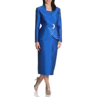 Giovanna Collection Women's 3-piece Skirt Suit|https://ak1.ostkcdn.com/images/products/10180598/P17307292.jpg?impolicy=medium