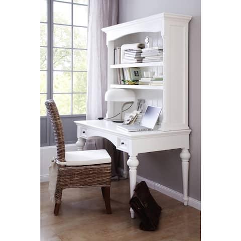 NovaSolo White Mahogany Secretary Desk