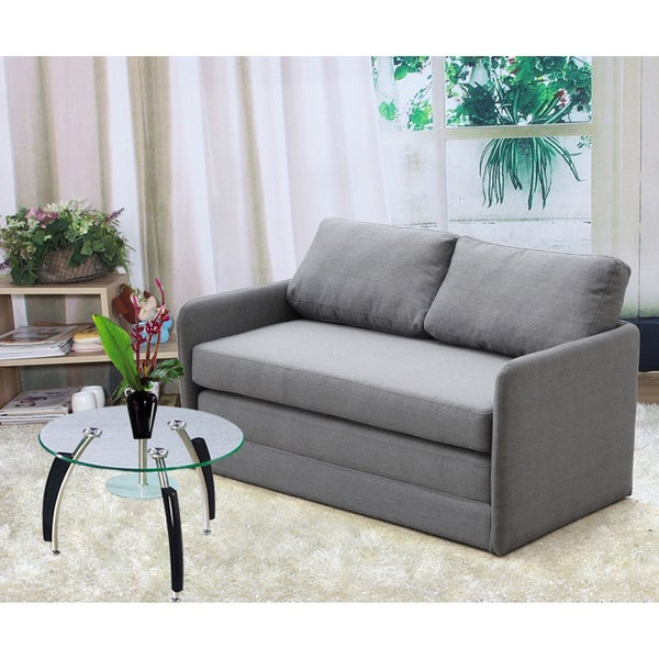 Kathy Reversible 5 1 Inches Foam Fabric Loveseat And Sofa Bed Free Shipping Today Overstock
