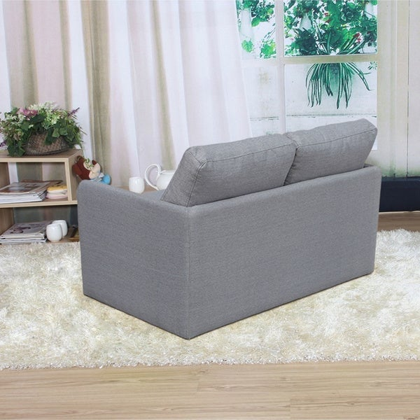 kathy reversible 51 inches foam fabric loveseat and sofa bed free shipping today