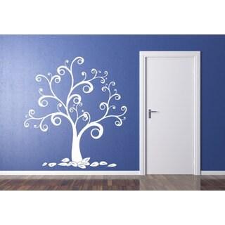 Swirly Tree Sticker Wall Art