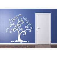 Swirly Tree Sticker Wall Art