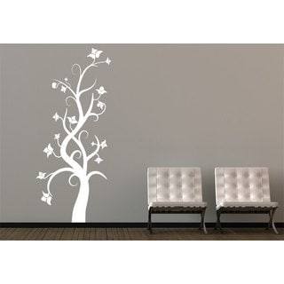 Swirly Tree Vinyl Sticker Wall Art