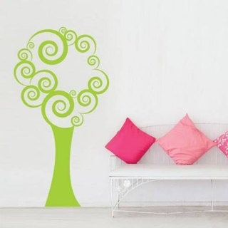 Tree Floral Decor Vinyl Sticker Wall Art