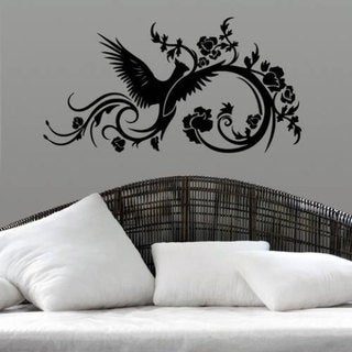 Phoenix Swirls Vinyl Sticker Wall Art