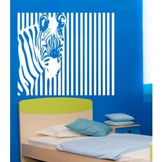 Zebra Pattern Vinyl Sticker Wall Art