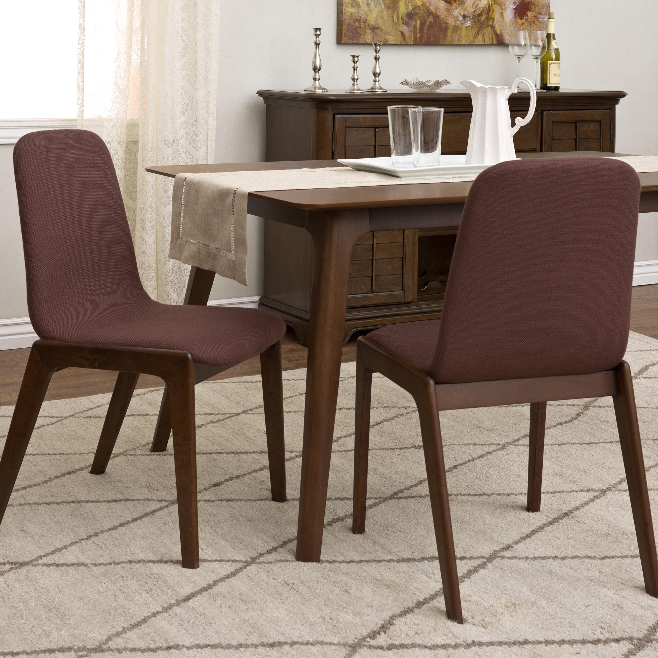 Libra Basket Weave Raisin Dining Chairs Set Of 2 Overstock 10180700
