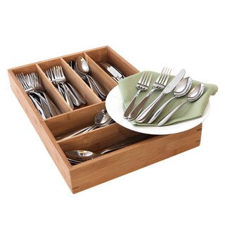 Oneida Mooncrest 65-piece Set with Bamboo Storage Caddy (Service for 12)