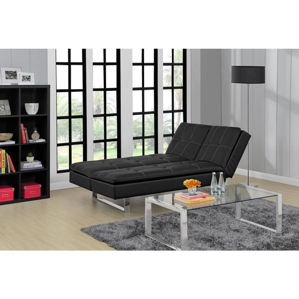 Medium image of dhp premium bonded leather lux pillowtop futon lounger
