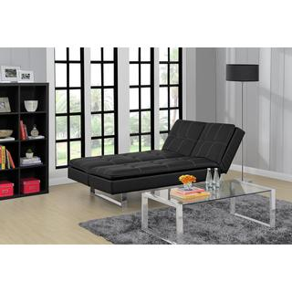 Avenue Greene Premium Bonded Leather Lux Pillowtop Futon Lounger