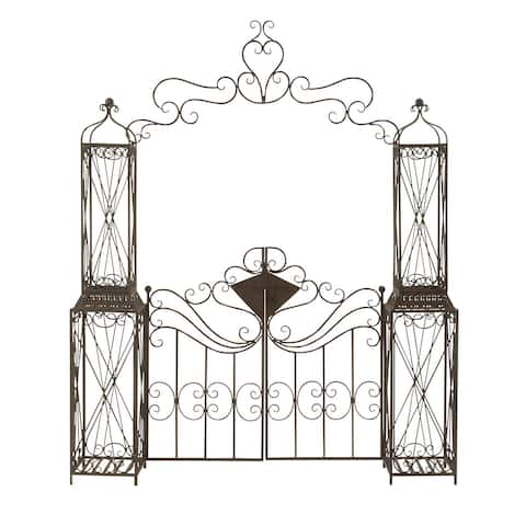 Studio 350 Metal Garden Gate 78 inches wide, 94 inches high
