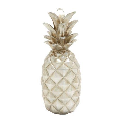 Dazzling Silver Pineapple Decor