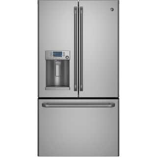GE 22.1 Cubic Foot Counter-Depth French Door Stainless Steel Refrigerator|https://ak1.ostkcdn.com/images/products/10180804/P17307473.jpg?impolicy=medium