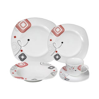 Porcelain Geo Dinnerware 16-piece Set