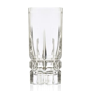 Crystal Carrara Hand-cut Collection Davinci Series High Ball (Set of 4)