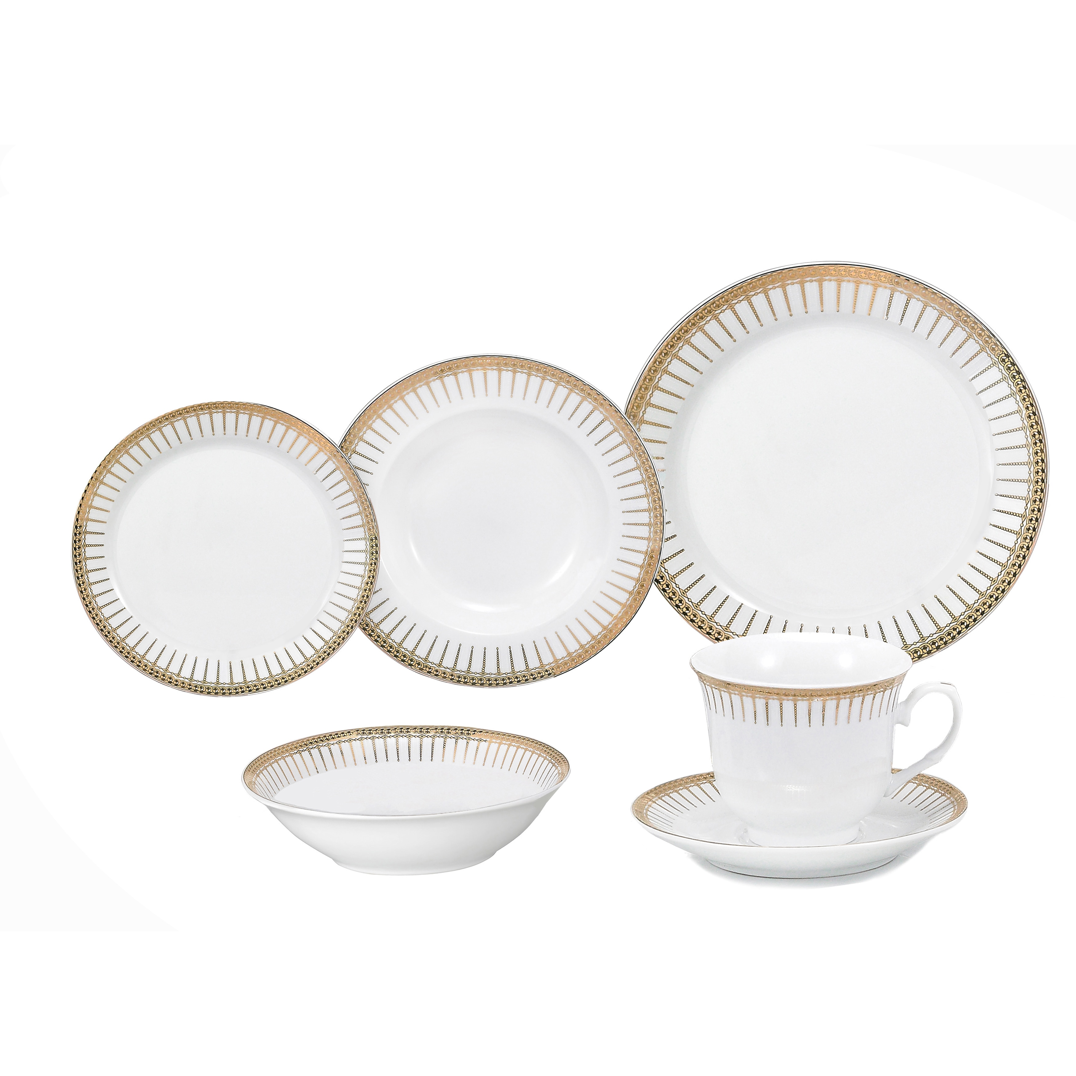 Lorren Home Trends Aria Porcelain Dinnerware 24-piece Set  sc 1 st  eBay & Details about Lorren Home Trends Aria Porcelain Dinnerware 24-piece Set