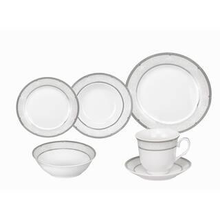 Lorren Home Trends Ballo Porcelain Dinnerware 24-piece Set|https://ak1.ostkcdn.com/images/products/10180861/P17307570.jpg?impolicy=medium