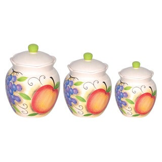 Fruit Design Deluxe Canister 3-piece Set