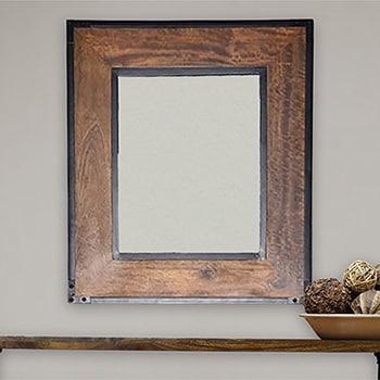Landon Wall Mirror - Brown/Black