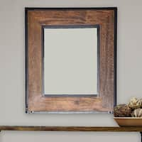 Landon Chestnut-finished Frame Wall Mirror