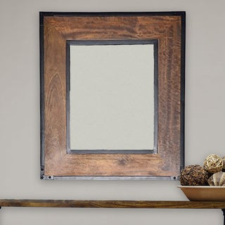 Landon Chestnut-finished Frame Wall Mirror