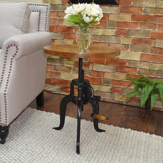 Alice Adjustable Crank Side Table