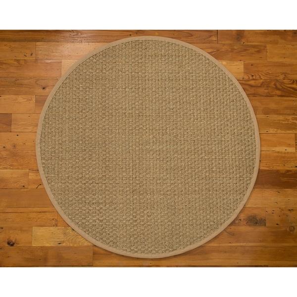 cambodia round sage khaki seagrass rug 8u0026x27 x 8u0026x27